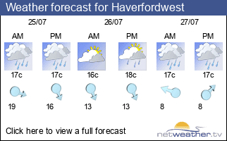 Weather forecast for Haverfordwest