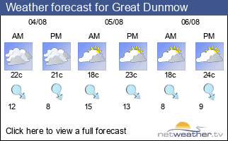 Weather forecast for Great Dunmow