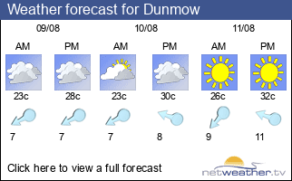 Weather forecast for Dunmow
