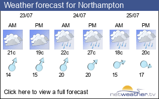 Weather forecast for Northampton