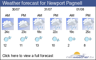 Weather forecast for Newport Pagnell