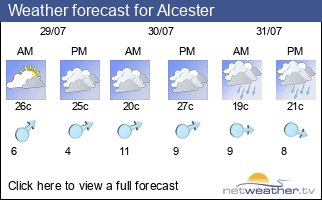 Weather forecast for Alcester