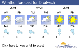 Weather forecast for Droitwich
