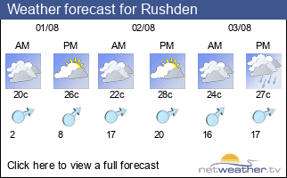 Weather forecast for Rushden