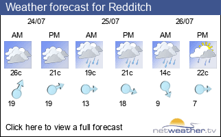 Weather forecast for Redditch