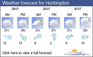 Weather forecast for Huntingdon