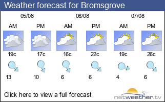 Weather forecast for Bromsgrove