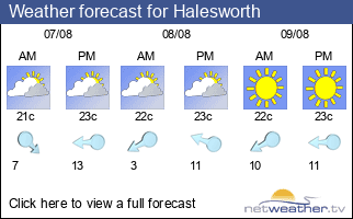 Weather forecast for Halesworth