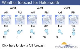 Weather forecast for Halesworth