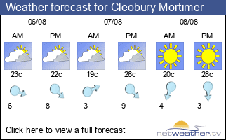 Weather forecast for Cleobury Mortimer