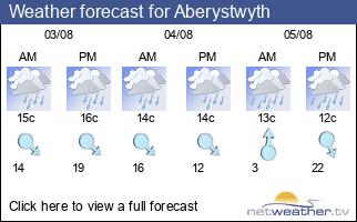 Weather forecast for Aberystwyth