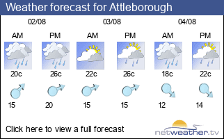 Weather forecast for Attleborough