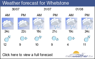 Weather forecast for Whetstone