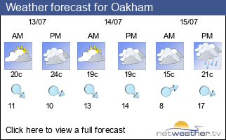 Weather forecast for Oakham