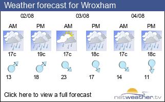 Weather forecast for Wroxham
