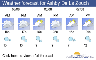 Weather forecast for Ashby De La Zouch