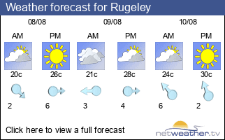 Weather forecast for Rugeley