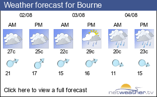 Weather forecast for Bourne