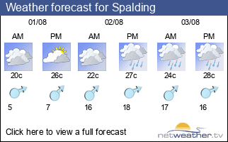 Weather forecast for Spalding