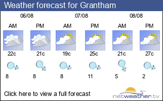 Weather forecast for Grantham