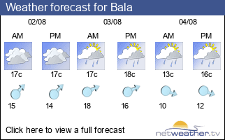 Weather forecast for Bala