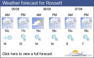 Weather forecast for Rossett