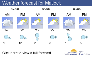 Weather forecast for Matlock