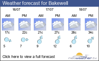 Weather forecast for Bakewell
