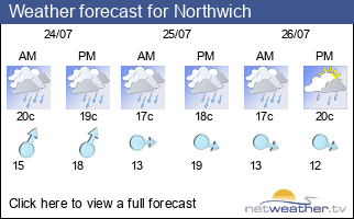 Weather forecast for Northwich