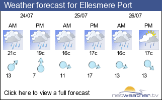 Weather forecast for Ellesmere Port