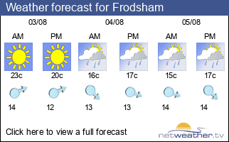 Weather forecast for Frodsham