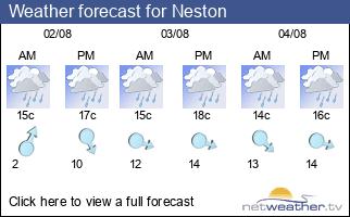 Weather forecast for Neston