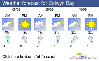 Weather forecast for Colwyn Bay