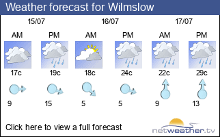 Weather forecast for Wilmslow