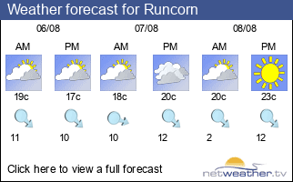 Weather forecast for Runcorn