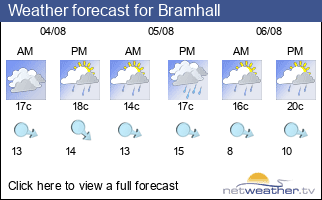 Weather forecast for Bramhall