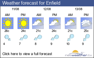Weather forecast for Enfield