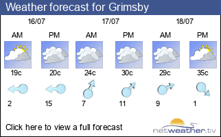 Weather forecast for Grimsby