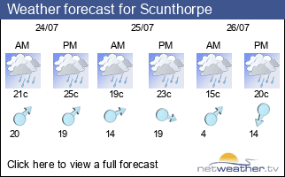 Weather forecast for Scunthorpe