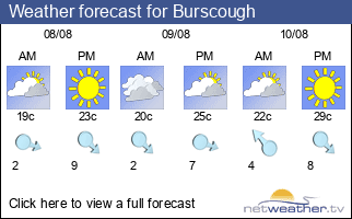 Weather forecast for Burscough