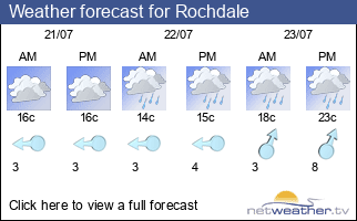 Weather forecast for Rochdale