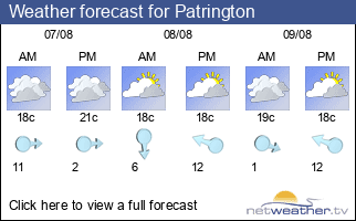 Weather forecast for Patrington