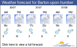 Weather forecast for Barton-upon-humber