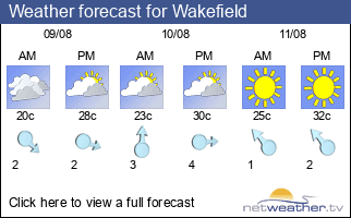 Weather forecast for Wakefield