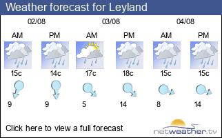 Weather forecast for Leyland
