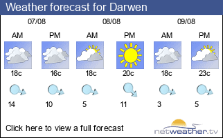 Weather forecast for Darwen