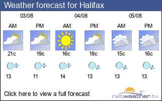 Weather forecast for Halifax