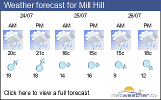 Weather forecast for Mill Hill