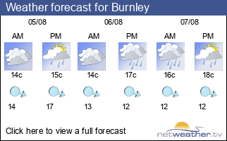 Weather forecast for Burnley
