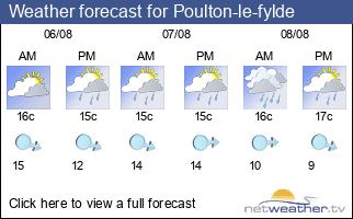 Weather forecast for Poulton-le-fylde